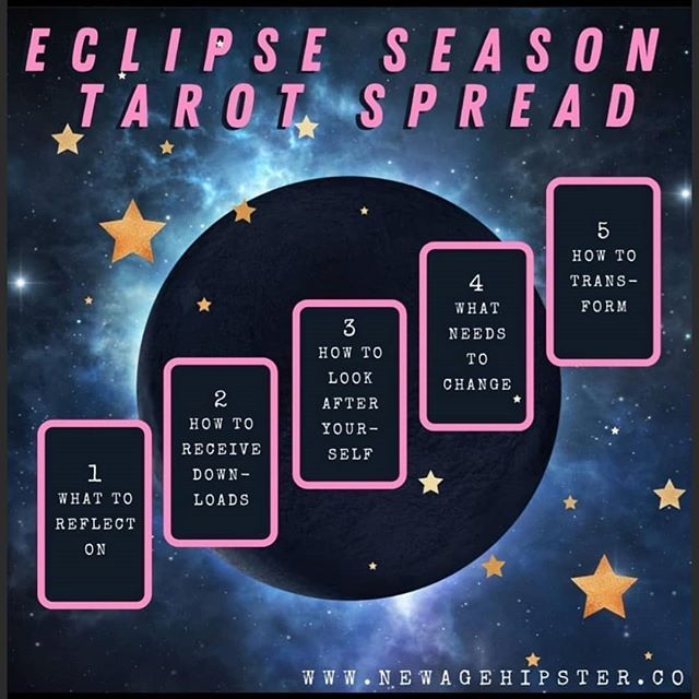 Eclipse Season Tarot Spread~~~~~~1- High Priestess2- Page of Fire/9 of Fire3- 10 of Air4- Hanged Man5- Knight of WaterSpread @newagehipster333 Deck: @vibratarot #tarotdeck #vibratarot #tarotdecks #tarot #tarotcards #tarotspread #tarotreader #tarotcard #tarotreadersofinstagram #tarotreading #tarotonline #tarotreadingsonline #eclipseseason #taroteclipsespread #eclipsespread